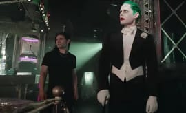 "Skrillex and Rick Ross' video for ""Purple Lamborghini"" featuring Jared Leto's Joker."