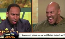 Stephen A. Smith and LaVar Ball on 'ESPN First Take.'