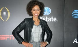 Sage Steele at the College Football Playoff.
