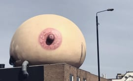 breast on building
