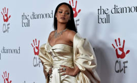 Rihanna at the second annual Diamond Ball.