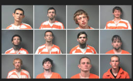Mugshots of the 12 inmates who escaped from an Alabama prison.