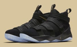 Nike LeBron Soldier 11 SFG Black/Gold Finals Release Date Main