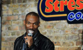 Charlie Murphy performing stand-up at Stress Factory