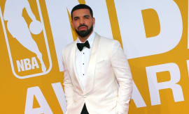 Drake at the NBA Awards.