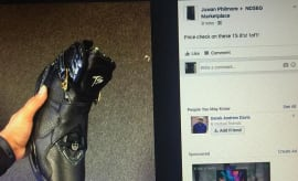 Screenshot of Fat Joe's stolen Air Jordan exclusives posted on Facebook