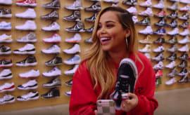 Lauren London Sneaker Shopping