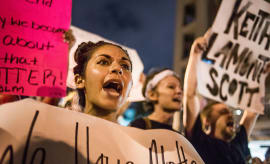 Charlotte protest.
