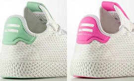 Pharrell x Adidas Tennis Hu Light Green & Pink Colorways