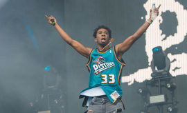 Desiigner performs at the Wireless Festival in London, England.