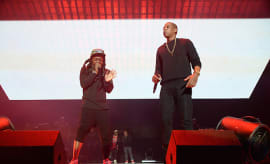 Lil Wayne and Jay-Z perforrm onstage during TIDAL X: 1020