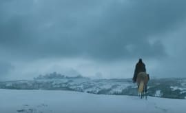Shot of Arya in 'Game of Thrones' promo.
