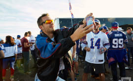 Bills Mafia Complex Original Popping Open Beer