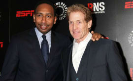 Stephen A. Smith and Skip Bayless.