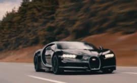 Bugatti Chiron runs test.