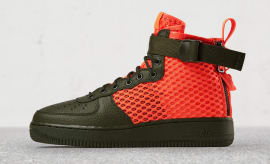 Nike SFAF1 Mid Green Orange