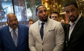Ray Lewis prepares to meet with Donald Trump.