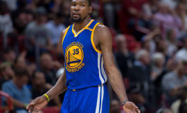 Kevin Durant Warriors Heat 2017