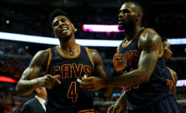 Iman Shumpert and LeBron James.