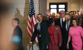 Barack Obama going to Capitol Jan. 2016
