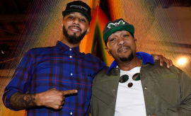 Recording artists Swizz Beatz and Timbaland