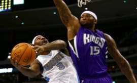 Ty Lawson and new Kings teammate DeMarcus Cousins