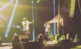 "Tyler, the Creator and Earl Sweatshirt perform ""Orange Juice"" at One Love Music Festival."