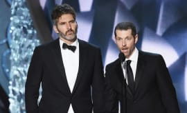 Writer/producers David Benioff (L) and D.B. Weiss