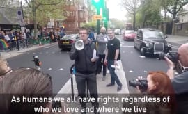 LGBT rally in London