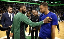 Steph Curry and Kyrie Irving.