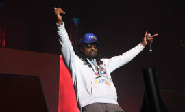 Wale at ATL Winterfest.