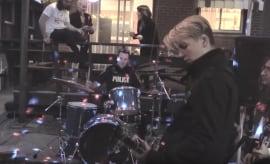cop drummer