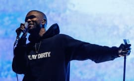 Frank Ocean performs on stage