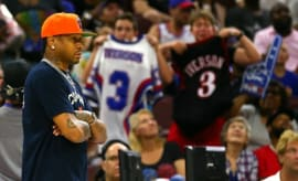 Allen Iverson coaches a Big3 game in Philadelphia.