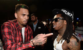 This is a photo of Lil Wayne and Chris Brown.