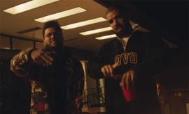 drake and the weeknd reminder video