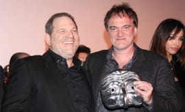 Quentin Tarantino and Harvey Weinstein.