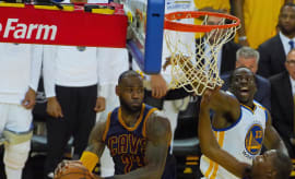 LeBron James Game 1 NBA Finals Drive