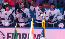 J.T. Brown of Tampa Bay Lightning's national anthem protest