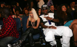Nicki Minaj and Safaree 'SB' Samuels attend the 2013 BET Awards