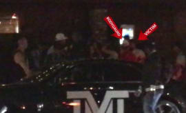 Floyd Mayweather gets into a car.