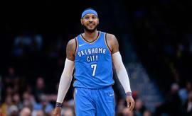 Carmelo Anthony Thunder Nuggets 2017