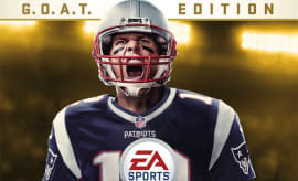 Tom Brady appears on the G.O.A.T. Edition cover of 'Madden NFL 18.'