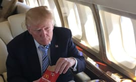 Donald Trump eating McDonald's