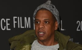 Jay Z attends premiere at the 2017 Sundance Film Festival.