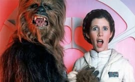 princess leia with chewbacca