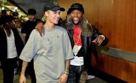 Floyd Mayweather and Justin Bieber.