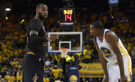 LeBron James Kevin Durant Game 2 NBA Finals 2017