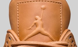Air Jordan 4 Wheat Ginger Jumpman Logo