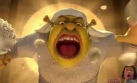 A stillshot from the Shrek/Thor Ragnarok trailer.